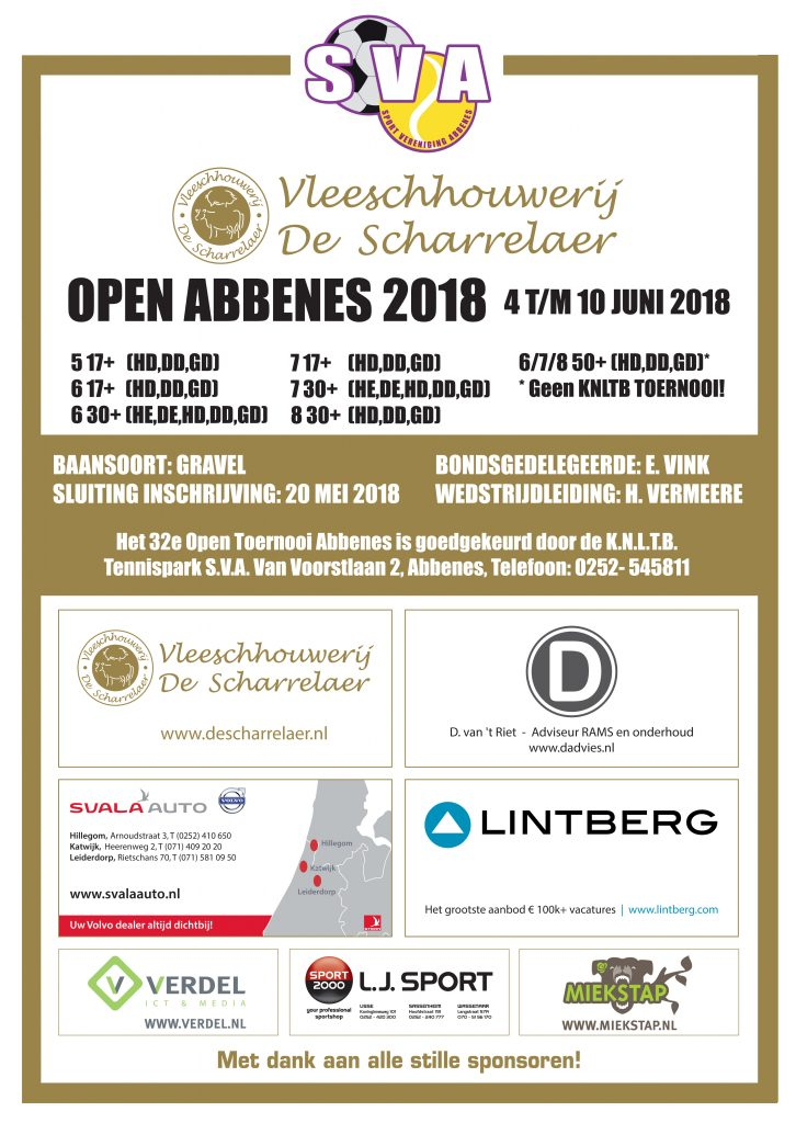 SVA Open Toernooi 2018